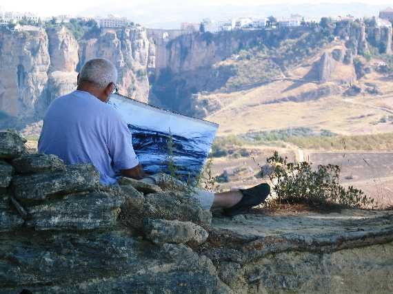 Cliff drawing on the Virgen de la Cabeza, Ronda, Spain, 3rd October 2004. Original image courtesy of Gina Marsh and Jeremy Pollard.